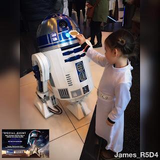 R2 with Princess Leia & the Death Star plans