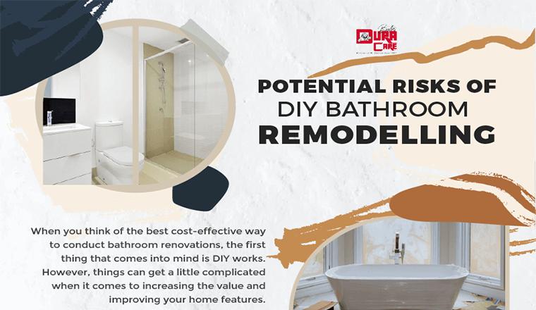 Potential Risks of DIY Bathroom Remodeling #infographic