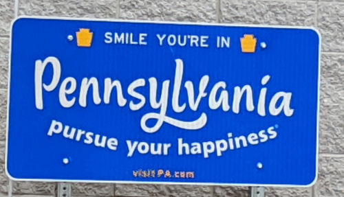 Pennsylvania state sign