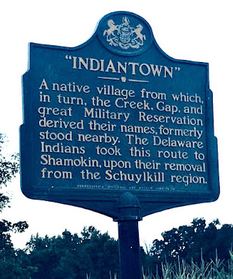 Indiantown Historical Marker in Lebanon County, Pennsylvania