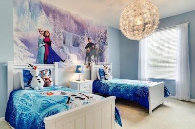 Gambar Desain Kamar Anak Perempuan Frozen