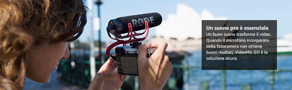 Rode VMGO VideoMic Go Microfono Direzionale