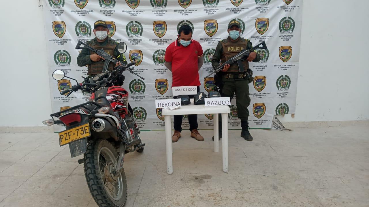 https://www.notasrosas.com/En Aguachica: Policía Cesar captura a ciudadano con base de coca, bazuco y heroína