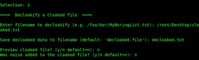 decloaking in kali linux