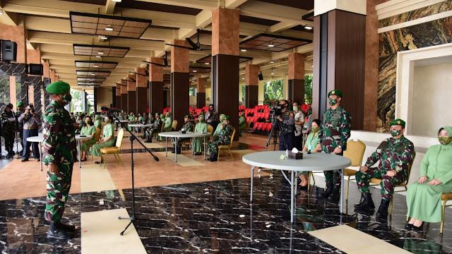 Kasad Terima Laporan Kenaikan Pangkat 70 Perwira Tinggi TNI AD. Putra Asli Papua Pertama, Jadi Letjen