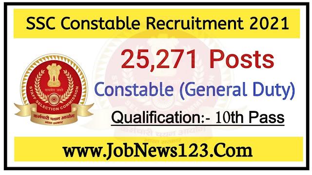 SSC Constable Recruitment 2021: