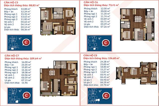 Thiết kế căn hộ C5-C6-C7-C8 tòa C, Việt Đức Complex