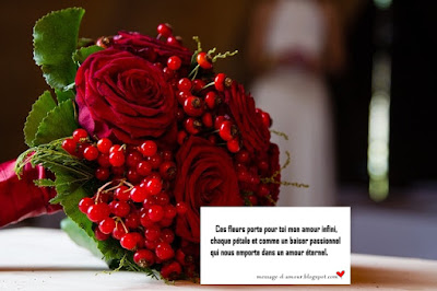Carte pour accompagner un bouquet de fleurs