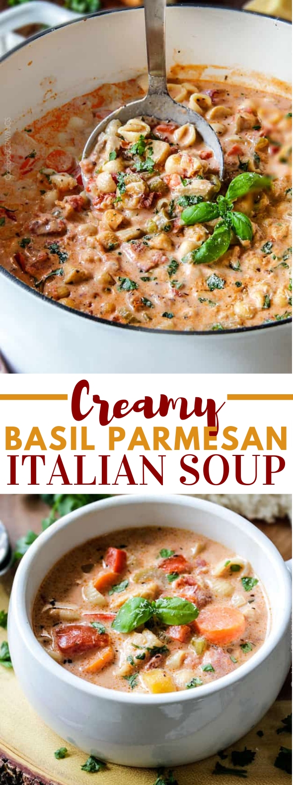 CREAMY ITALIAN SOUP #dinner #easy