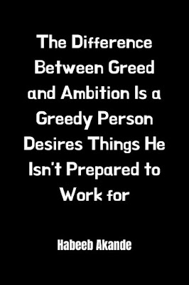 Greed Think Quotes