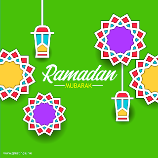ramadan mubarak greetings card style HD Vector Images