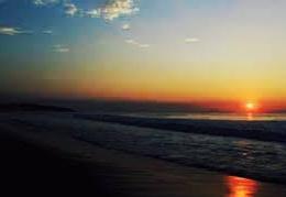 foto sunset di laut