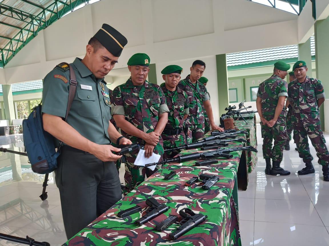 Dukung Kesiapan Yonif 725/Wrg, Mabesad Gelar Pengawasan Dan Petunjuk Doktrin TNI-AD Dan Binsis Alutsista