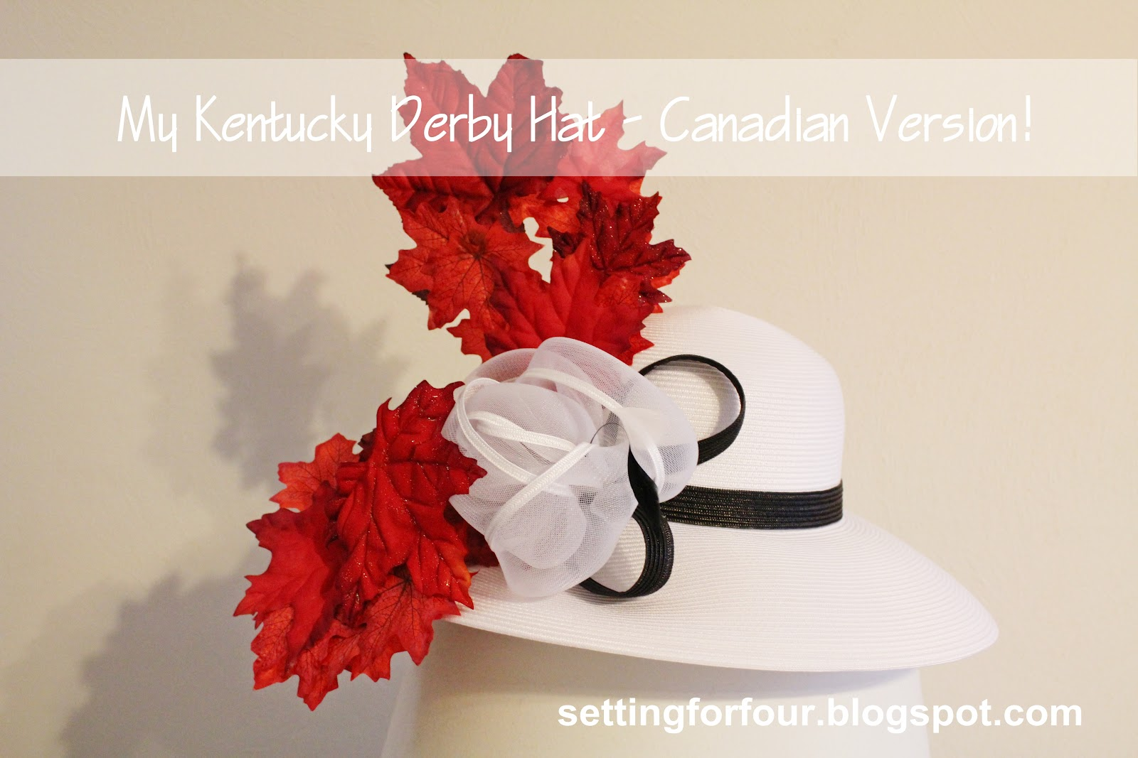 Make A Fun Diy Kentucky Derby Hat Setting For Four
