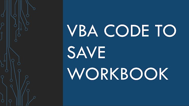 Save Workbook