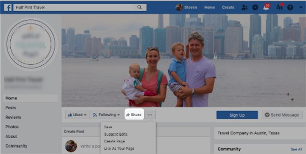 How to invite friend to like a Facebook page