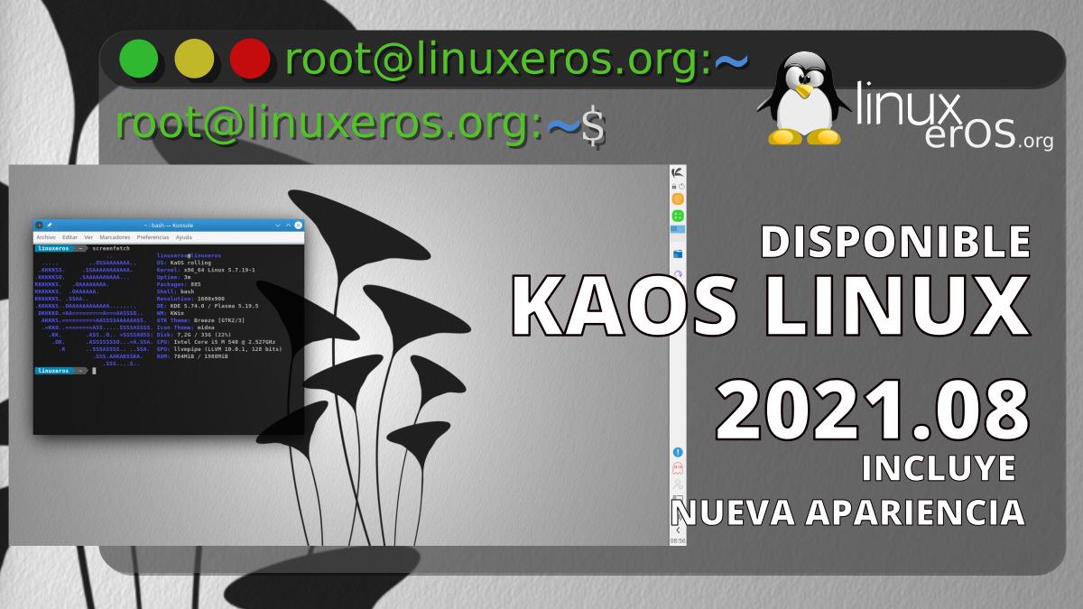 KaOS Linux 2021.08, con nueva apariencia y más