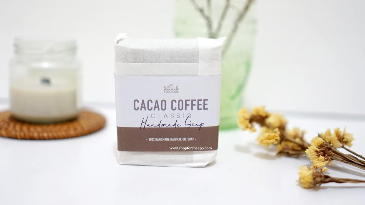 sabun dibalut dengan nuansa coklat, dibungkus kertas dan diberi label