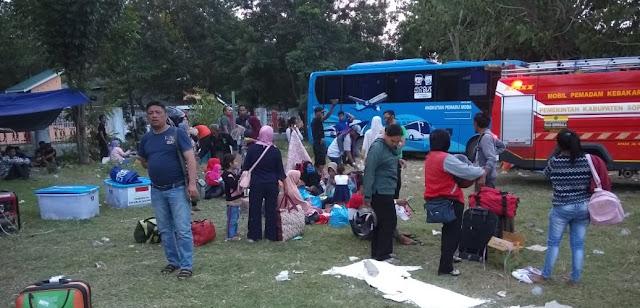 Pengungsi Kabupaten Tetangga Banyak Numpang di Rombongan Soppeng