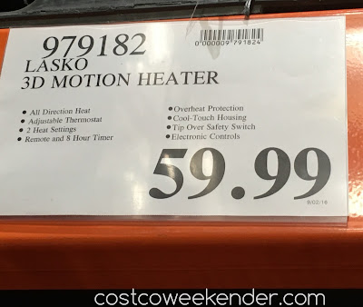 Deal for the Lasko Motion Heat Plus Whole Room Ceramic Heater at Costco