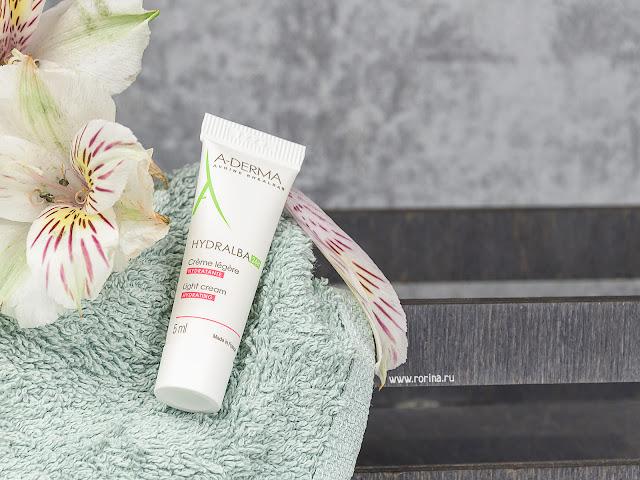 A-Derma Легкий увлажняющий крем для лица Crème Hydratante Light Hydralba 24h: отзывы с фото