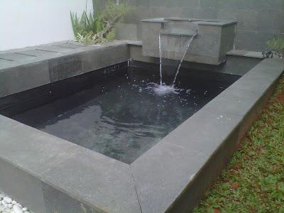 kolam minimalis  kolam air mancur   love green