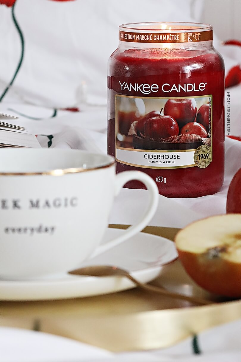 yankee candle ciderhouse duża świeca etykieta