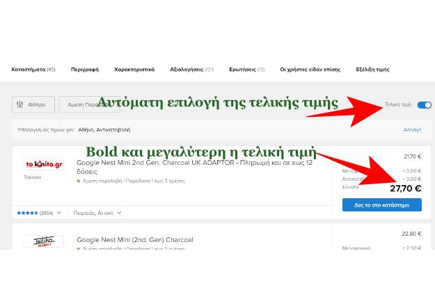 «Τελική τιμή στο Skroutz.gr» - Δες άμεσα τη πραγματική τιμή ενός προϊόντος
