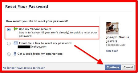 i forgot my password to my facebook account