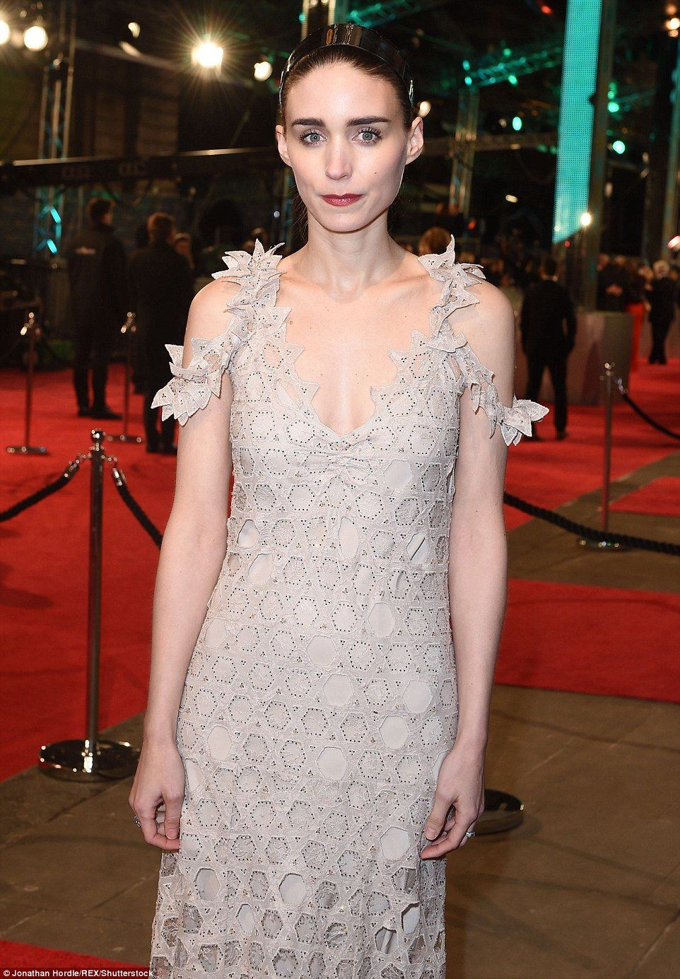 Rooney Mara wears Givenchy Couture to the BAFTAs 2016
