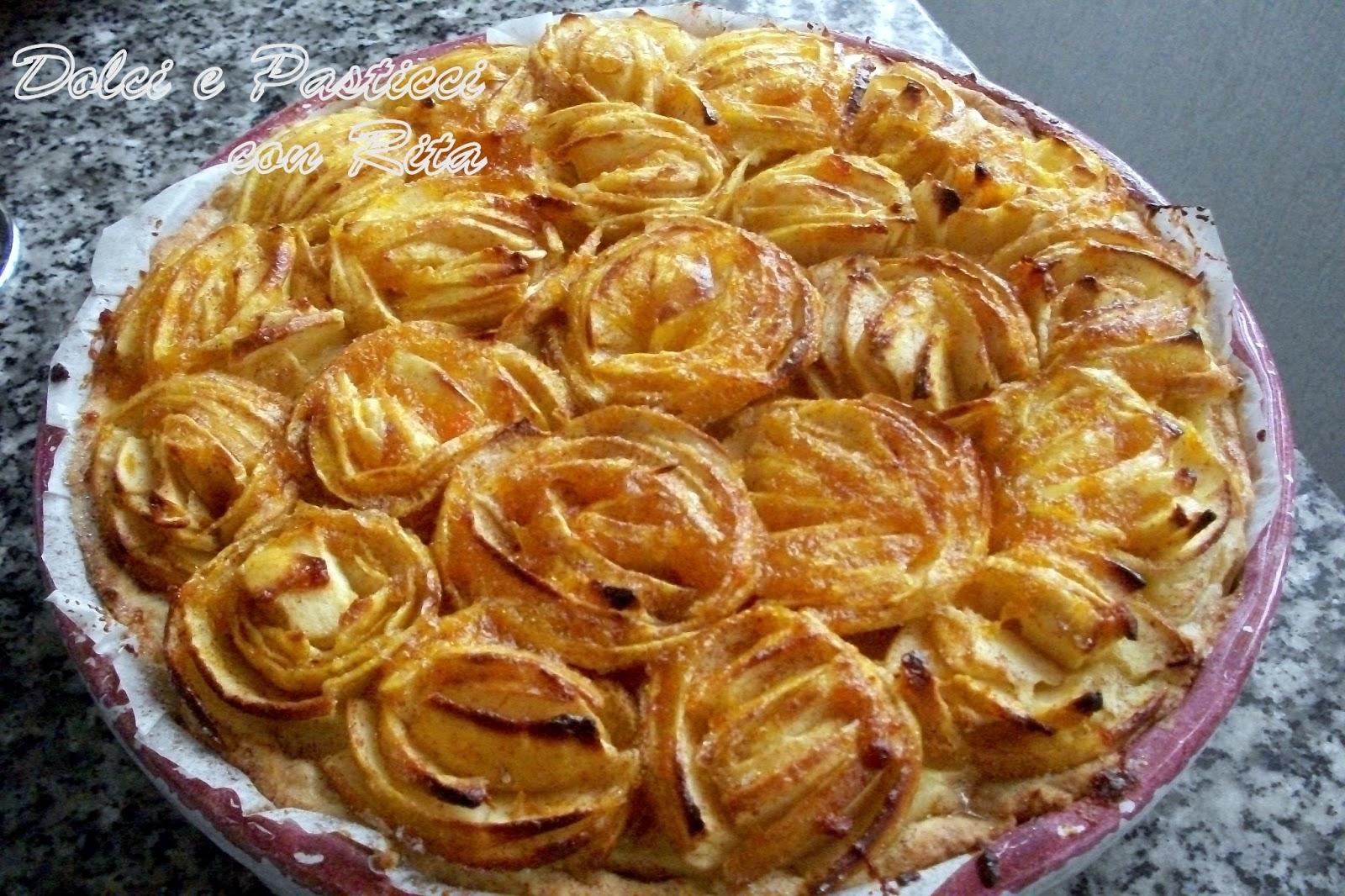 Dolci e pasticci con rit crostata di rose di mele for Crostata di mele