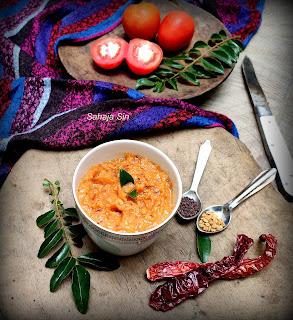 Sweet & sour tomato onions chutney