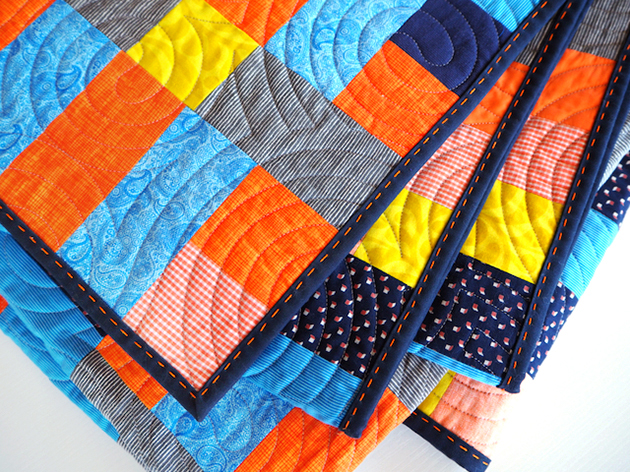 Folded Lockstep quilt