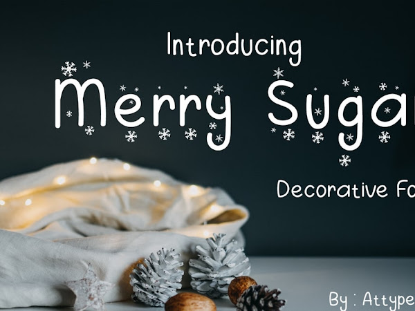 Merry Sugar Beautiful Winter Season Theme Font