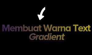 Menbuat Warna text gradient dengan