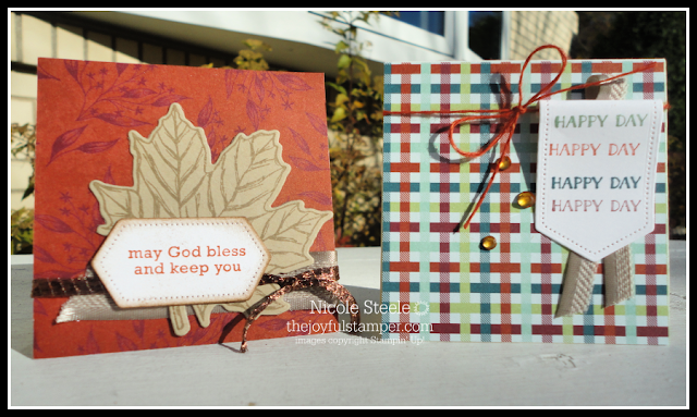 3x3 note cards 5 and 6 using Stampin' Up!'s Come To Gather product suite