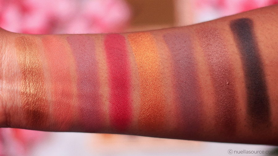 Imagic 16 color eyeshadow palette swatches third and fourth row