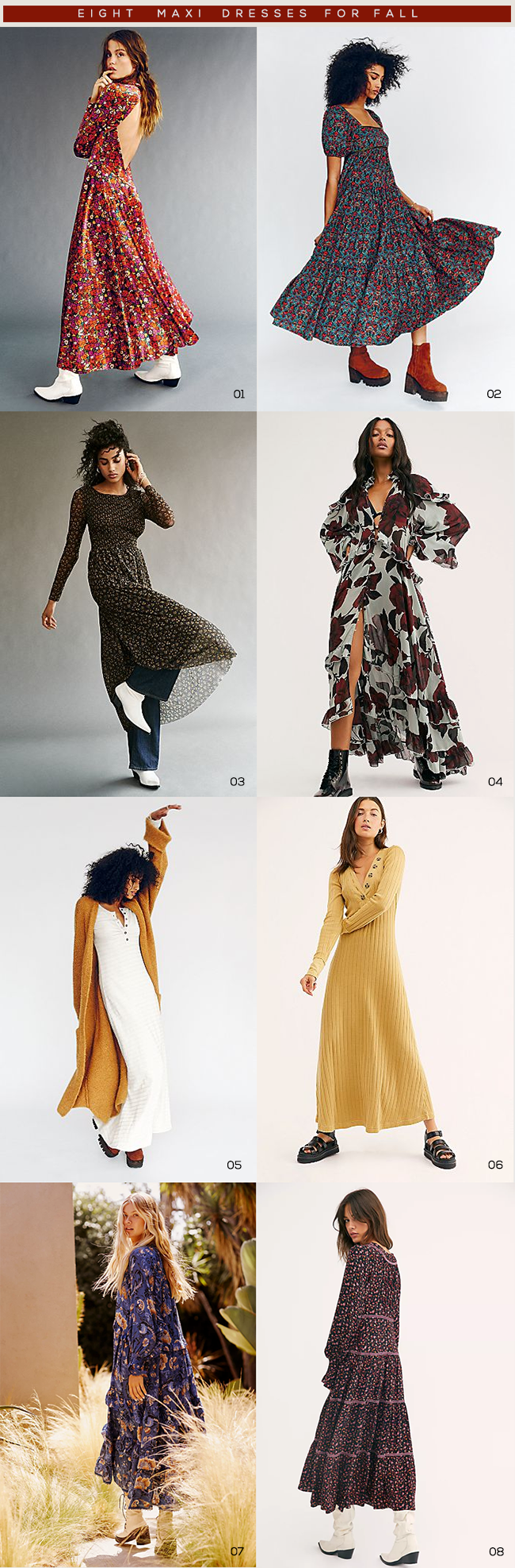 8 Maxi Dress For Fall