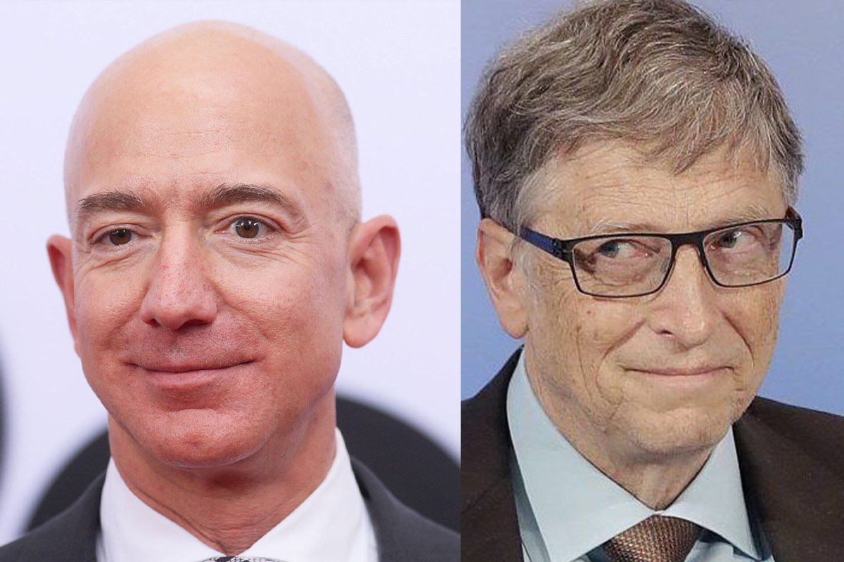 jeff bejos and bill gates,  bill gates and jeff bejos, bill gates and jeff bejos relation