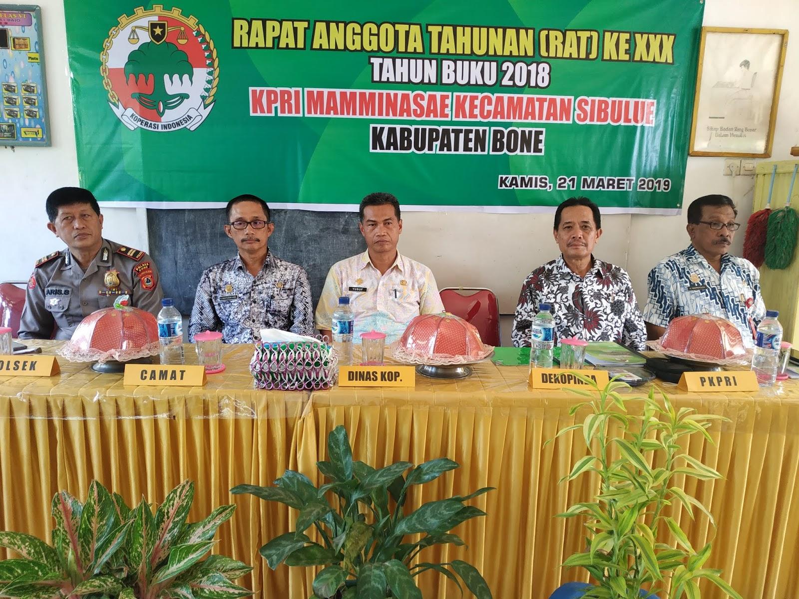 KPRI Mamminasae Sibulue Laksanakan RAT 2018, Ini Rencana Kerja Tahun Buku 2019