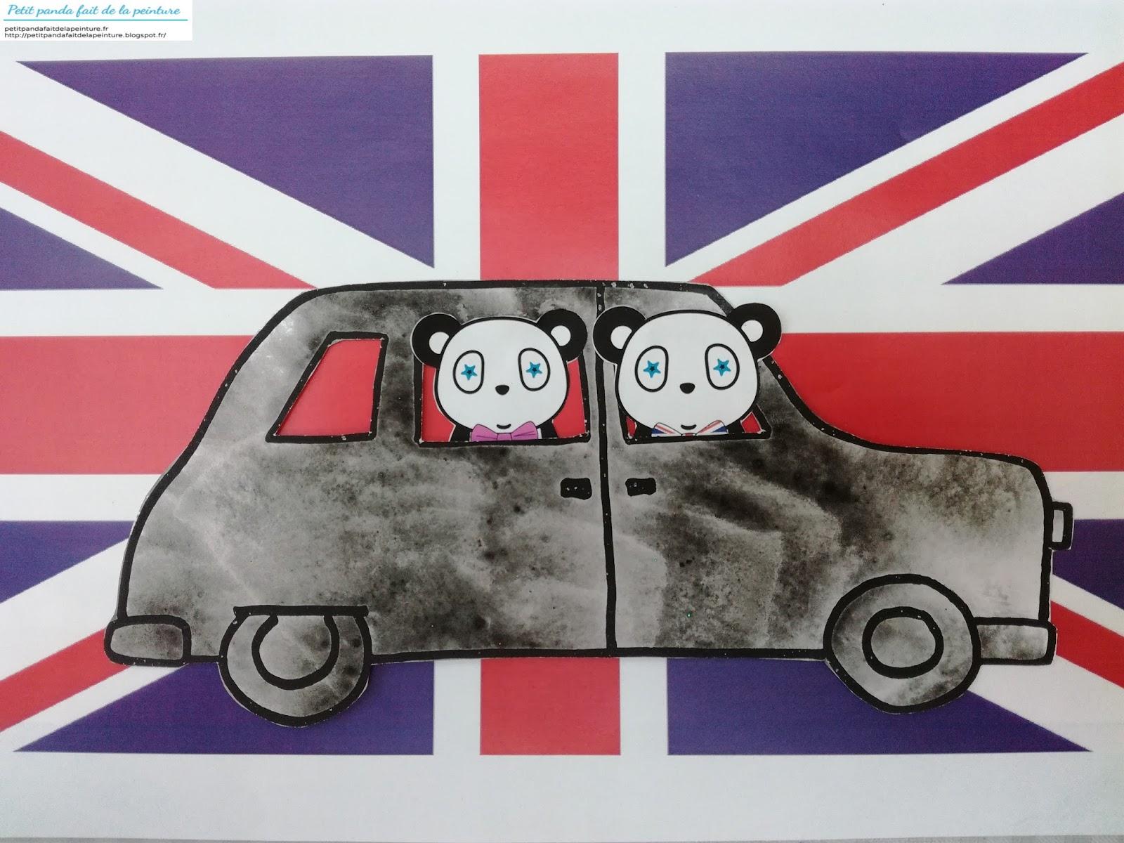 coeur drapeau britannique coloriage