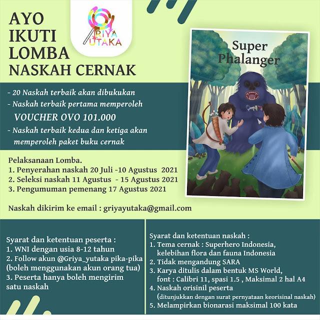 Lomba Menulis Cerita Anak oleh Griya Yutaka