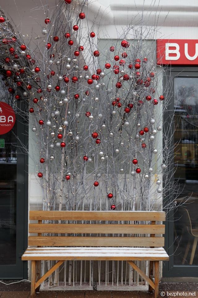 новогоднее оформление фасадов фото