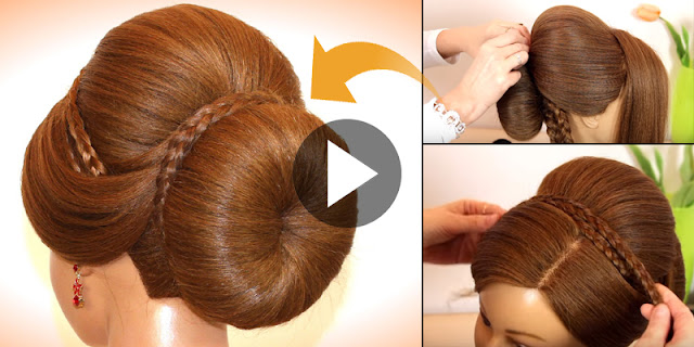 How To Create Simple And Quick Bridal Bun Hairstyle