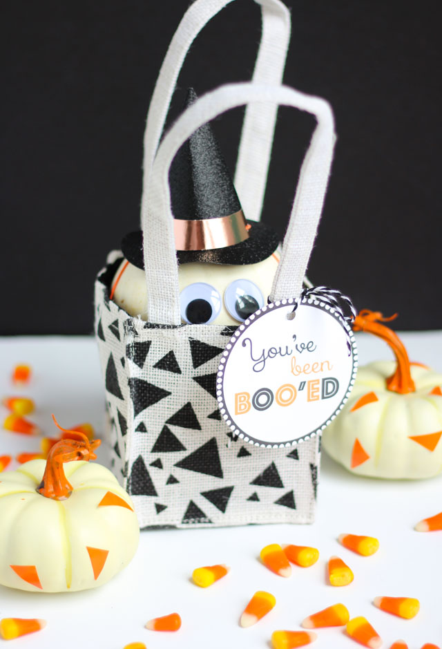 Mini witch pumpkin idea for Halloween surprise gift!