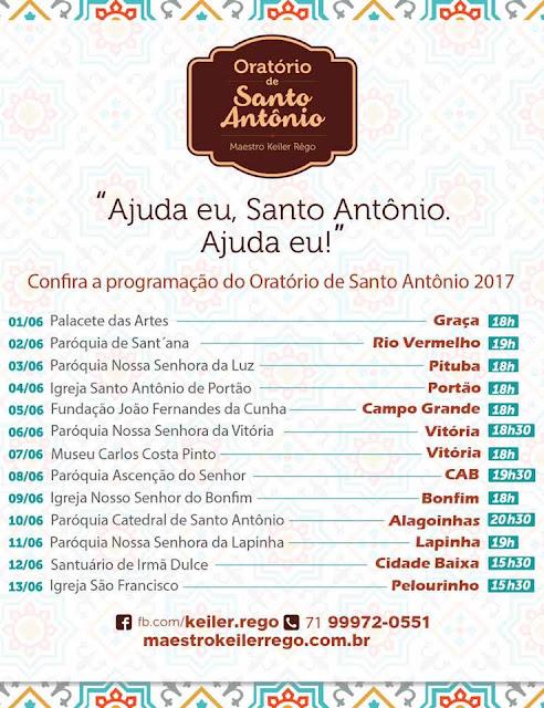 Nesta sexta Oratório de Santo Antônio na Paróquia de Sant´ Anna no Rio Vermelho