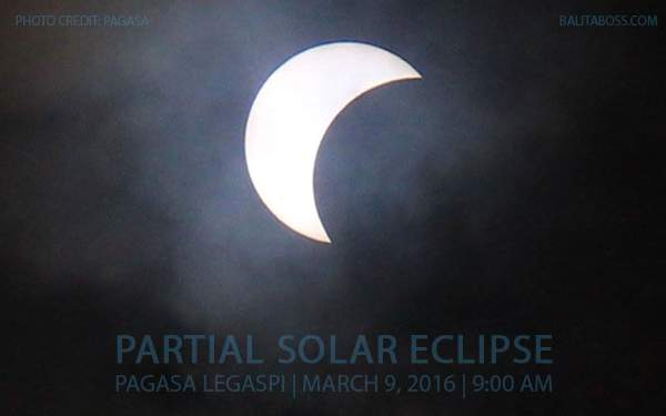 Partial Solar Eclipse in Legazpi, March 9, 2016