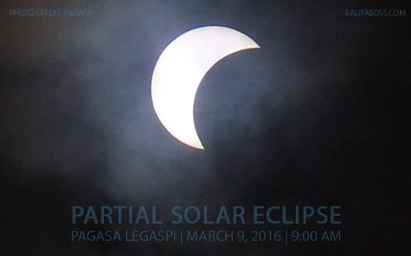 Partial Solar Eclipse in Legazpi, March 9, 2016