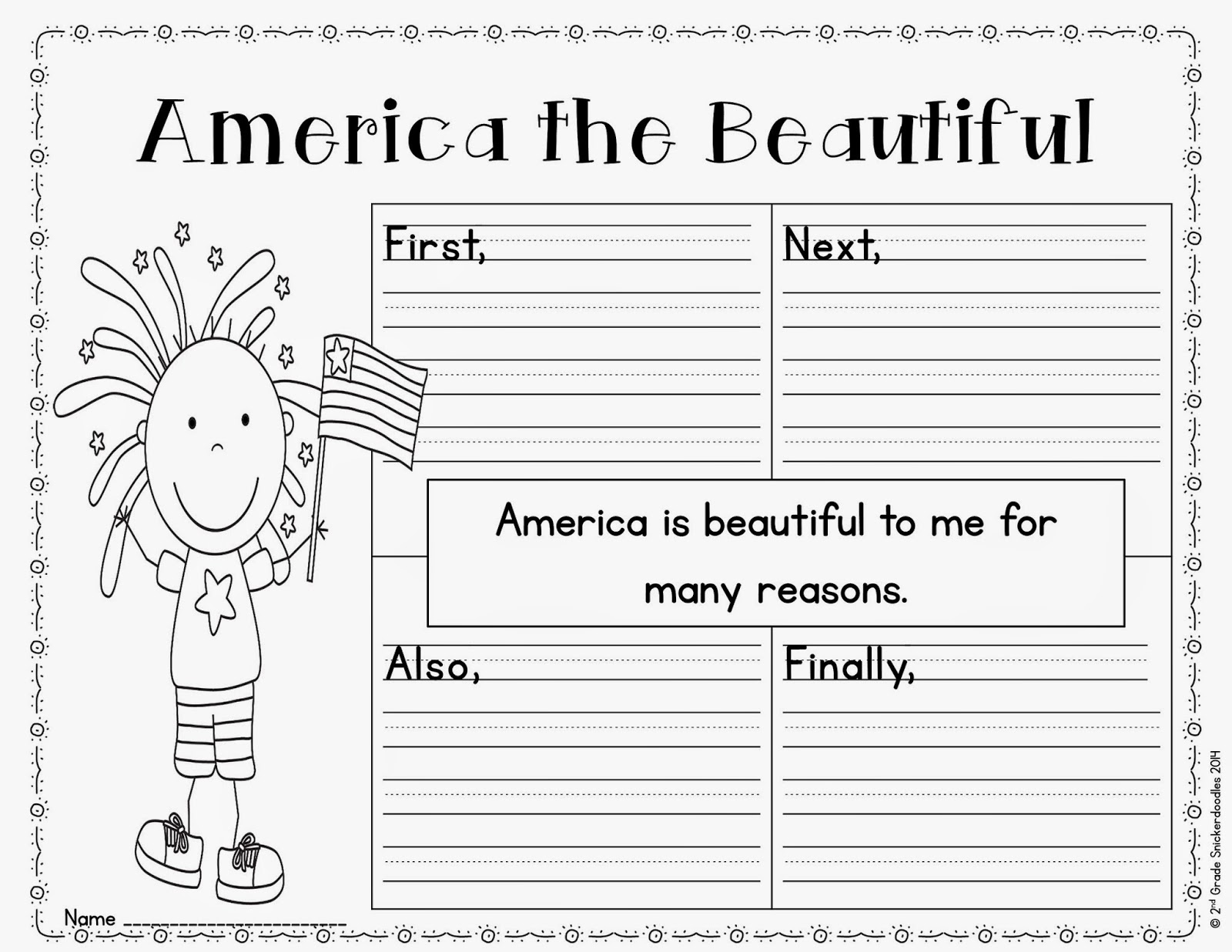 2nd Grade Snickerdoodles America The Beautiful Book Chat