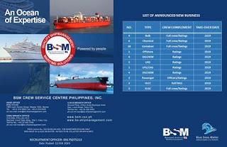 Urgent Full Crew For Bulk, Tanker, Container, Passenger, Offshore Vessel (Philippines)